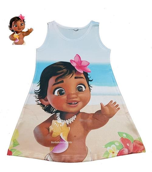 Vestido Infantil Moana Baby Trapézio Verão