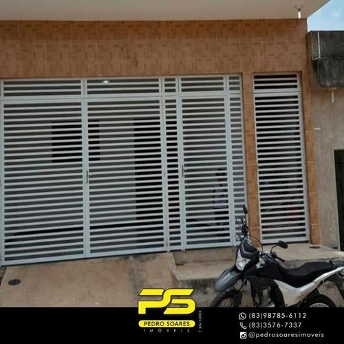 Casa Com 3 Dormitórios À Venda Por R$ 170.000,00 - Primavera - Guarabira/pb - Ca0597