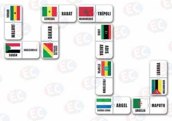 Edu-135 Domino Africa Bandera Capitales 28 Piezas 4+ Eduplas