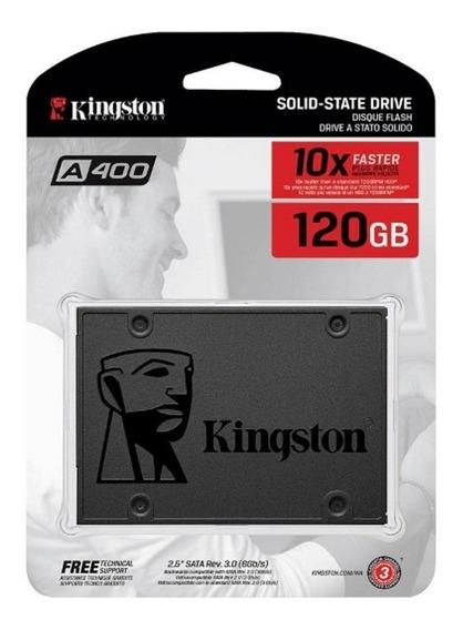 Ssd Kingston 120gb A400 2.5 Sata Novo Lacrado Para Pc Ou Not