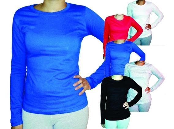 Camiseta Manga Larga ALG. 100% T-basic. - Linea Smooth