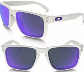 7c2955e38 Oculos Oakley Holbrook Branco E Roxo De Sol - Óculos no Mercado ...