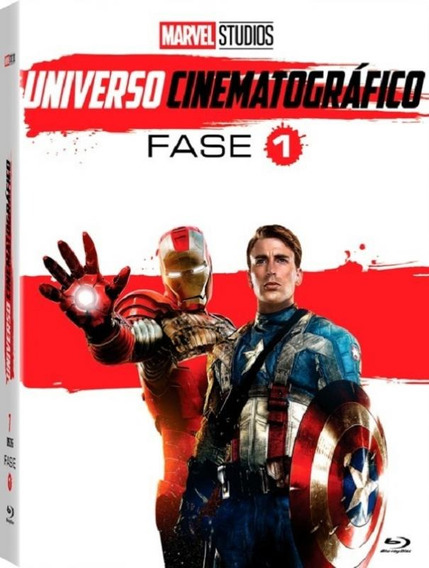 Marvel - Universo Cinematográfico, Fase 1 - Box 6 Blu Ray /