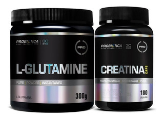 L-glutamine Glutamina (300g) + Creatina 180 - Probiótica