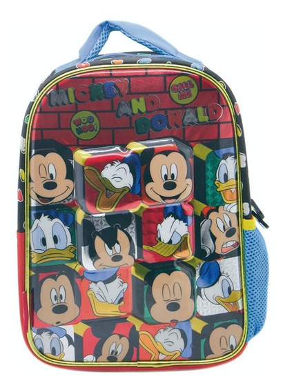 Mochila Minnie Y Mickey Jardin Linea Original Disney!!