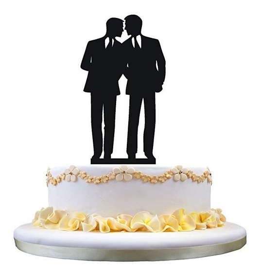 Pastel De Bodas Topper Gay Novio De Novio De La Torta Del Re