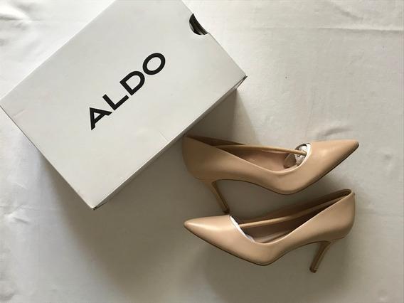 Aldo. Impecables Zapatos Stilettos Nude / Beige