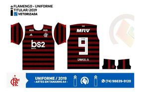 Kit De Arte Do Flamengo 2019/20 Para Sublimação - Vetorizada