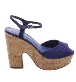 Sandália Schutz Plataforma Azul Cortiça U0315400010007u
