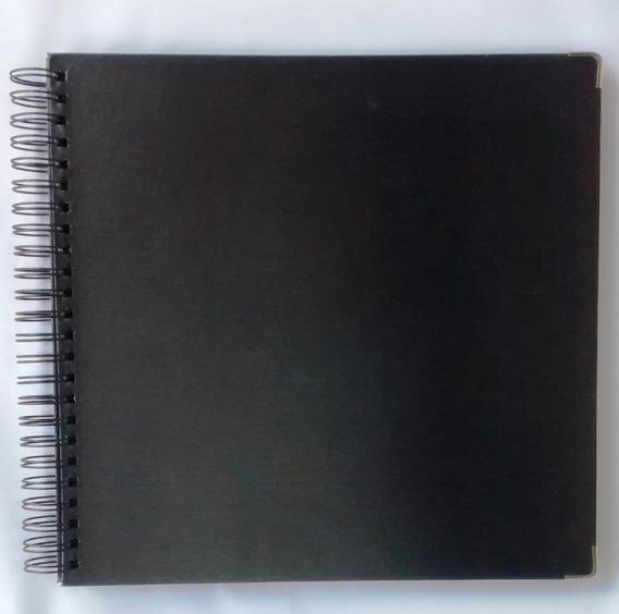 Álbum Grande 33x32 Scrapbook Grafite Para Viagem E Casamento
