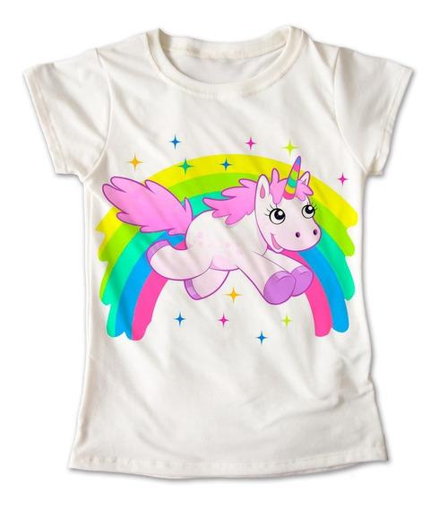 Blusa Unicornio Colores Playera Estampado Arcoiris 082