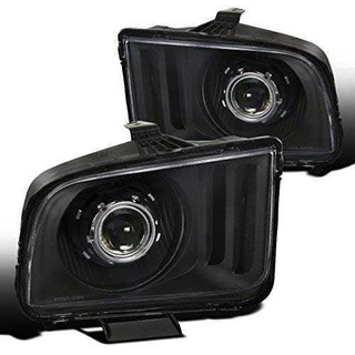 Ford Mustang Gt Base Euro Color Negro Transparente Proyector