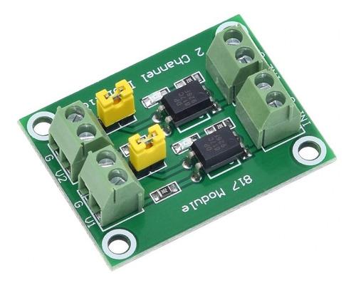 Modulo Optoacoplador Pc817 2 Canales Compatible Arduino