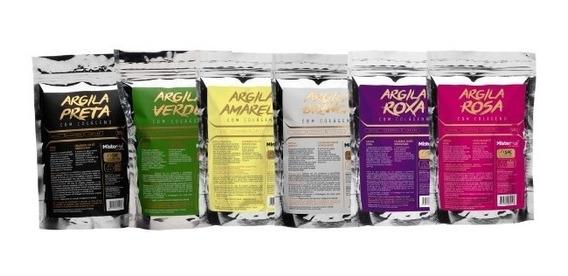 Kit Argilas Completo - 6 Cores - Mister Hair