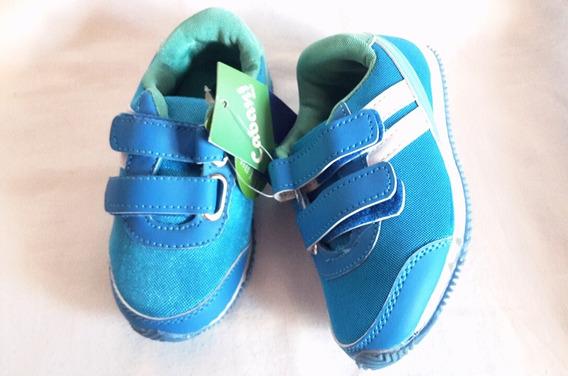 Zapatos Botines Cierre Magico Niños Niñas 24 A 28