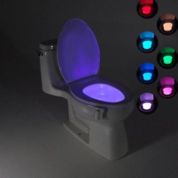 Luminária Para Vaso Sanitário - Com Sensor E Led 8 Cores