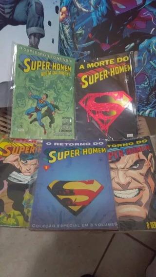 Coleção A Morte Do Super Homem Hq Abril Renscimento Superman