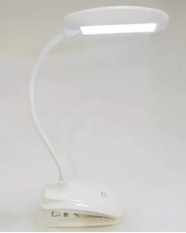 Luminária Touch Led Flexível Recarregável Usb Abajur C Garra