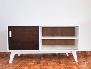 Mueble De Tv Vintage Moderno Retro Laca Excelente Calidad