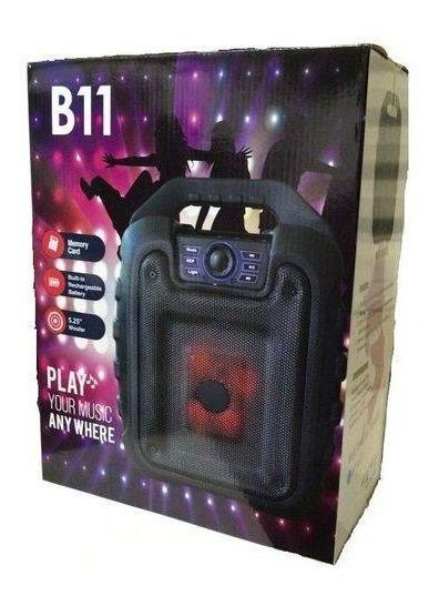 Caixa De Som B11 Amplificada Bluetooth Mic Rádio Fm Usb