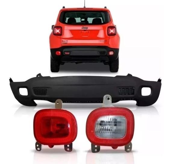 Parachoque Jeep Renegade Traseiro + Par Lanterna Diesel