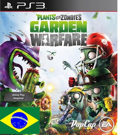 Plants Vs Zombies Garden Warfare Br Ps3 Psn Envio Imediato