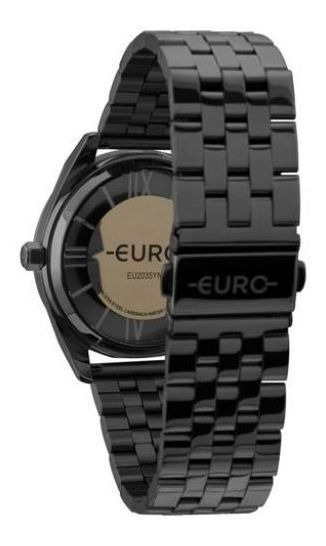 Relógio Euro Feminino Preto Eu2035ymv/4p Original Com Nf