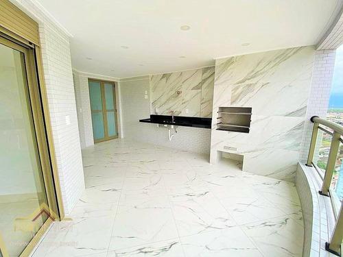 Imagem 1 de 27 de Apartamento Com 3 Dormitórios À Venda, 122 M² Por R$ 866.014,90 - Canto Do Forte - Praia Grande/sp - Ap2371