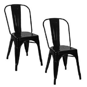 Kit 2 Cadeiras Tolix Preta
