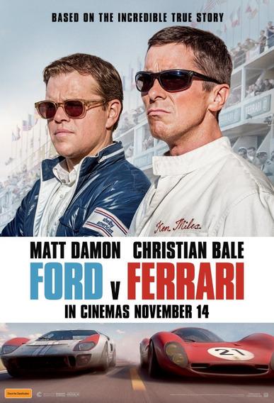 Posters Cine Ford V Ferrari Peliculas 45x30 Cm