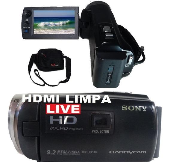 Filmadora Sony Hdr-pj340 Wifi Hdmi Limpa