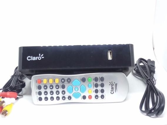 Kit Receptor Claro Tv Pré Pago Recarga + Antena 60 Habilita
