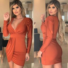 Vestido Curto Divo Decote V Saia Sobreposta Roupas Femininas