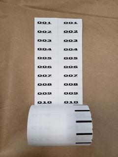 Etiqueta Lavável Para Controle De Roupas - Impressa Branca