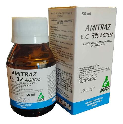 Amitraz Pets 3% Control De Garrapata X 50 Ml