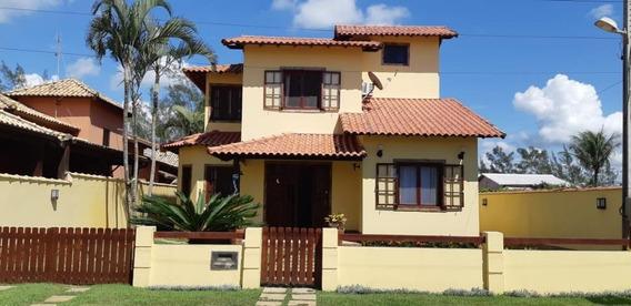 Linda Casa De Alto Padrão De 4 Quartos Sendo 1 Suite Em Unamar Lado Praia!! - Ca1231