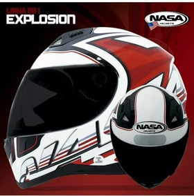 Capacete Nasa Sh-881 Explosion Preto/vermelho Tam56/58/60/61