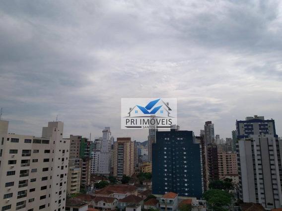 Apartamento Para Alugar, 52 M² Por R$ 3.200,00/mês - Embaré - Santos/sp - Ap1001
