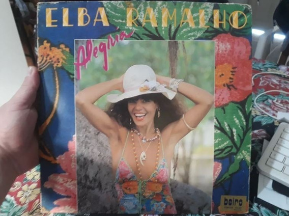 Lp Vinil - Elba Ramalho - Alegria - Com Encarte - 1982