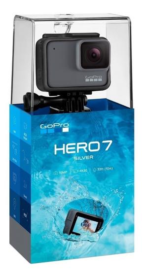 Gopro Hero 7 Silver 4k 10mp Novo Original Lacrado Nota Fisca