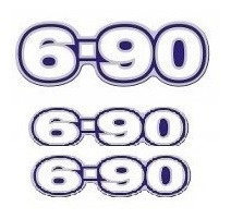 Emblema Adesivo 690 6-90 Caminhao Vw Kit