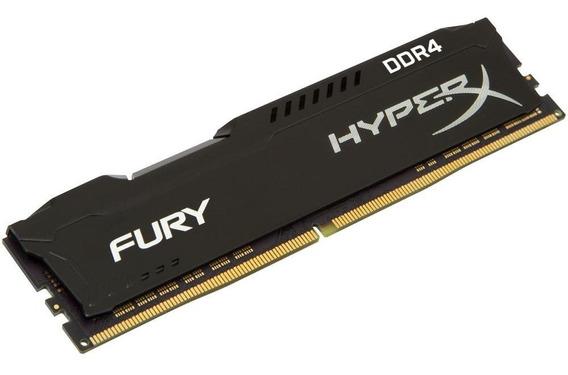 Memória Hyperx Fury, 8gb, 2400mhz, Ddr4, Preto
