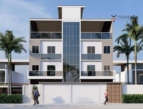 Imagem 1 de 6 de Cobertura Com 2 Dormitórios À Venda, 92 M² Por R$ 389.000,00 - Vila Pires - Santo André/sp - Co0734