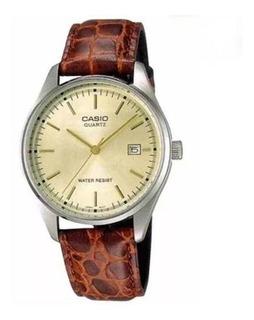 Reloj Casio Mtp-1175e Hombre Correa Cuero Wr