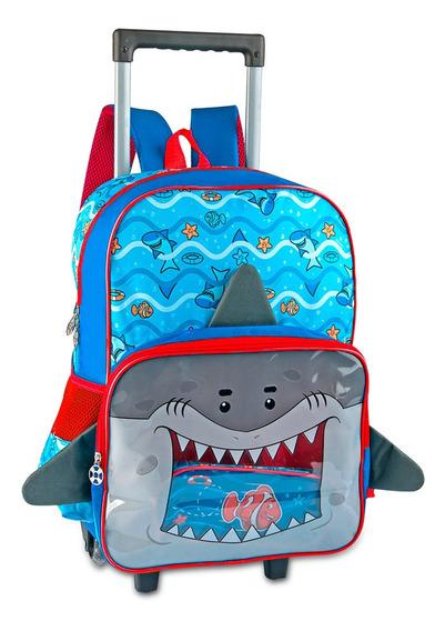 Mochila Infantil C/ Rodas Shark
