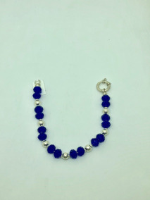 a170d0f7bd06 Pulseras Plata Con Piedras Azules - Pulseras en Mercado Libre Argentina