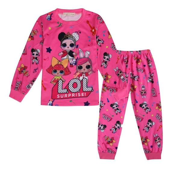 Pijama Conjunto Niñas Lol Surprise Original Moda Blusa Manga