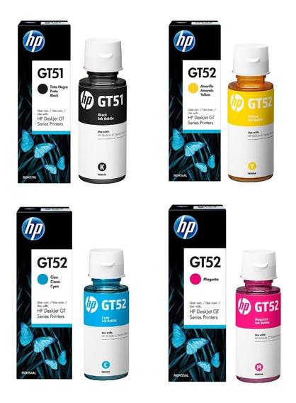 Kit 4 Refil De Tinta Original Hp Gt51 Gt52 Para Impressora Hp Gt5822 Hp Gt5810 Hp Gt5820 Hp 416 Hp 412 Hp 316 Hp 116