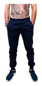 Calça Moletom Masculina Saruel Slim Sport Luxo Várias Cores