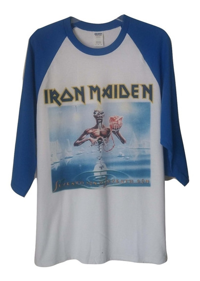 Polera 3/4 A Iron Maiden Seventh Son Heavy Metal Abominatron